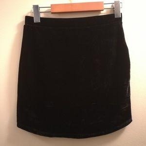 Forever 21 Crushed Velvet Mini Skirt